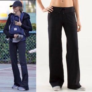 Lululemon Tall Yoga Pants Black Flair